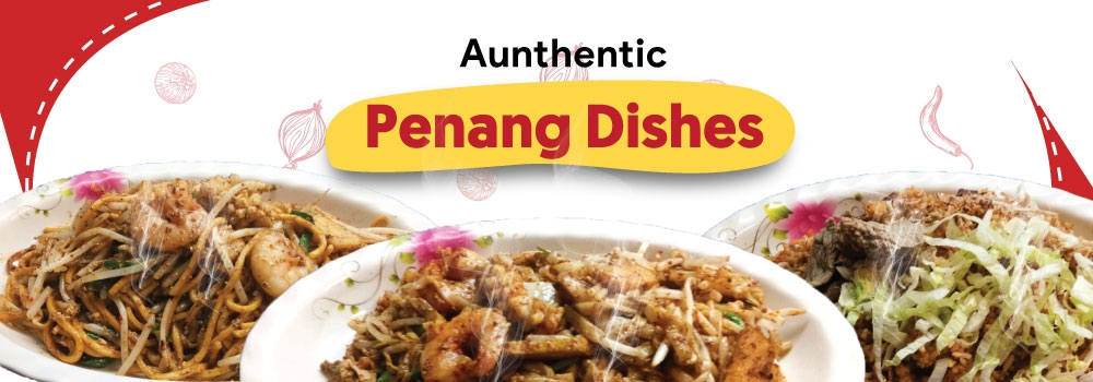 Penang Fried Rice, Kuey teow, Beef Hor Fun