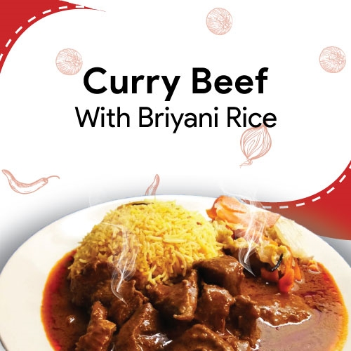 Curry Beef with Briyani Rice