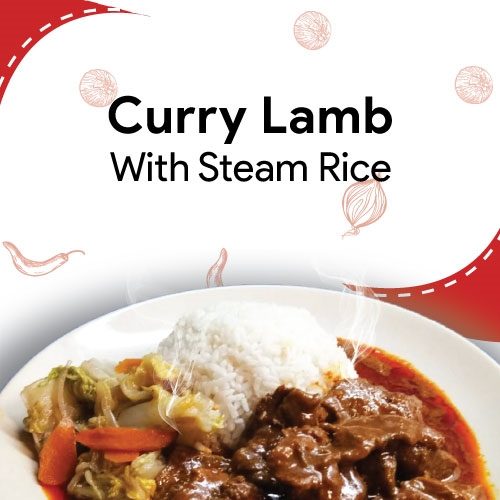 Curry Lamb With Steam Rice
