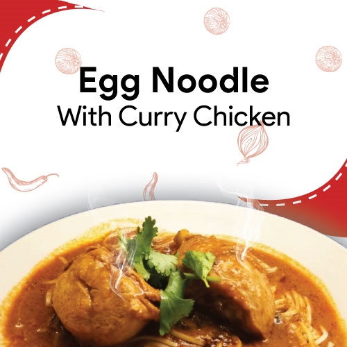 Egg Noodle With Curry Chicken