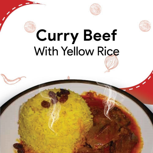 Curry Beef with Yellow Rice